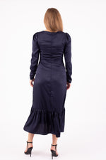 Load image into Gallery viewer, Milkmaid Dress With Puff Sleeves