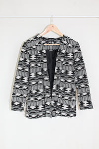 Abstract Longline Casual Blazer