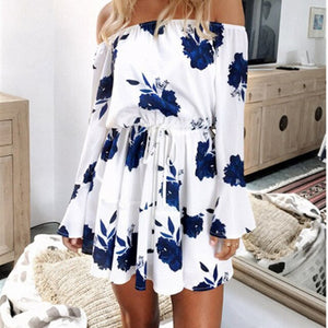 Horn Sleeves Mini Dress