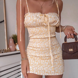 Summer Party Backless Mini Dress