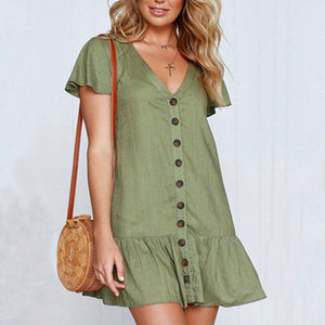 Loose Ruffled Mini Dress