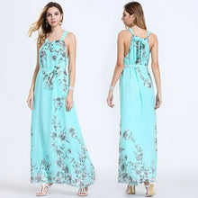 Load image into Gallery viewer, Chiffon Floral Maxi Dress
