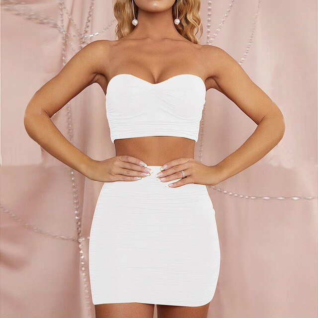 Ruched Two Piece Set