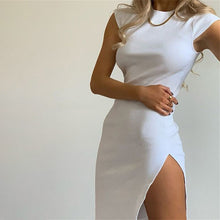 Load image into Gallery viewer, Split Midi Bodycon Dress