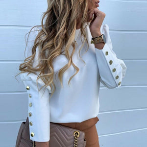 Metal Button Blouse