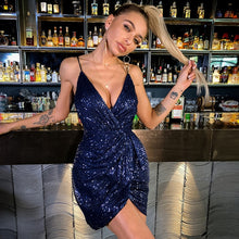 Load image into Gallery viewer, Sequined Mini Dress