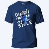 Dhoni Finishes off in style with text - Unisex T-Shirt