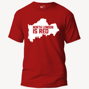 North London Is Red Football - Unisex T-Shirt