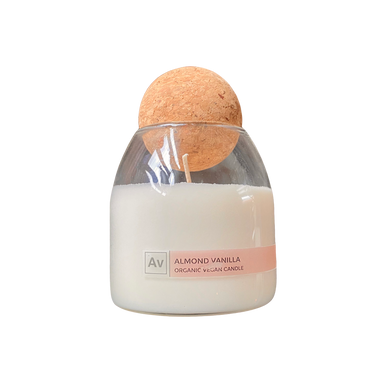 almond vanilla candle salvation wellness