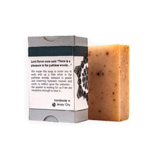 Load image into Gallery viewer, deep woods bar soap back label salvation wellness