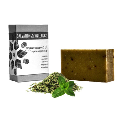 peppermint 5 bar soap organic vegan salvation wellness jersey city