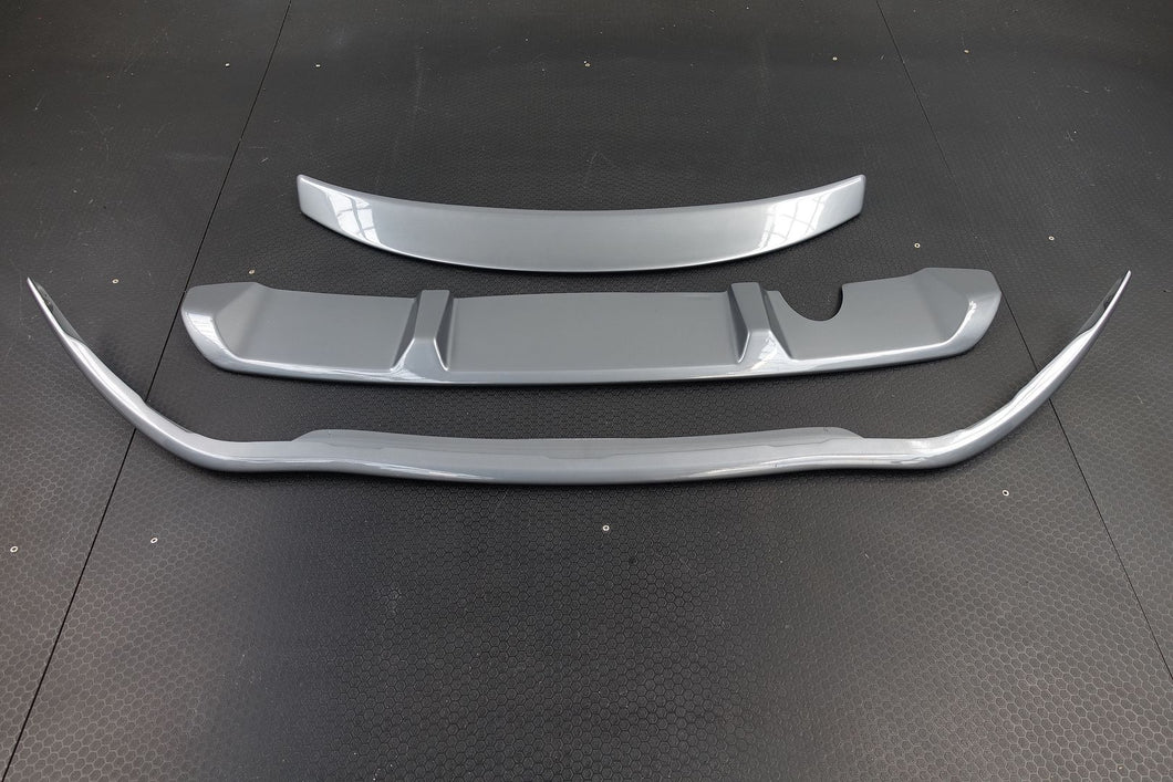 GENUINE RENAULT CLIO 2013-onwards Front Spoiler, Rear Valance & Boot Spoiler Set