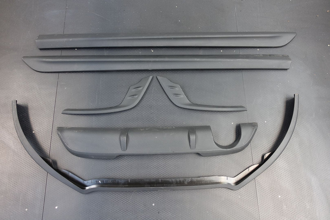 GENUINE RENAULT MEGANE 2016-on Carbon Effect Front Splitter Side Skirt Valance