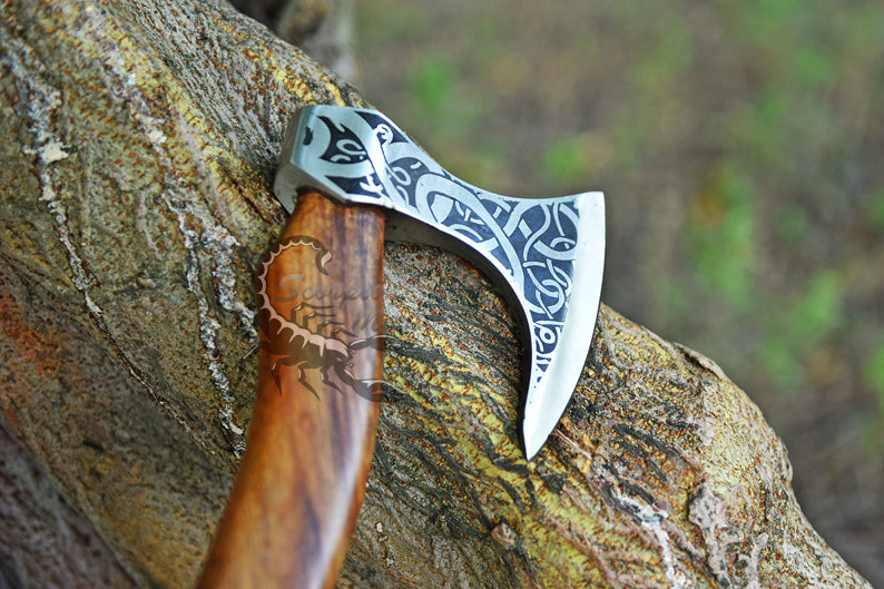 FORGED CUSTOM HANDMADE DAMASCUS BLADE| CAMEL BONE HANDEL WITH FREE LEATHER COVER