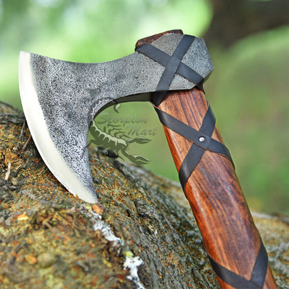 RAGNOR LOTHBROK VIKING BEARDED AXE SHARP HATCHET BATTLE READY CAMPING AXE