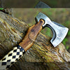 VIKING AXE WITH BEAUTIFUL LEATHER COVERING HANDLE WITH FREE SHEATH