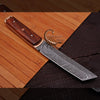FORGED HANDMADE DAMASCUS STEEL | TANTO KNIFE | FREE LEATHER COVER