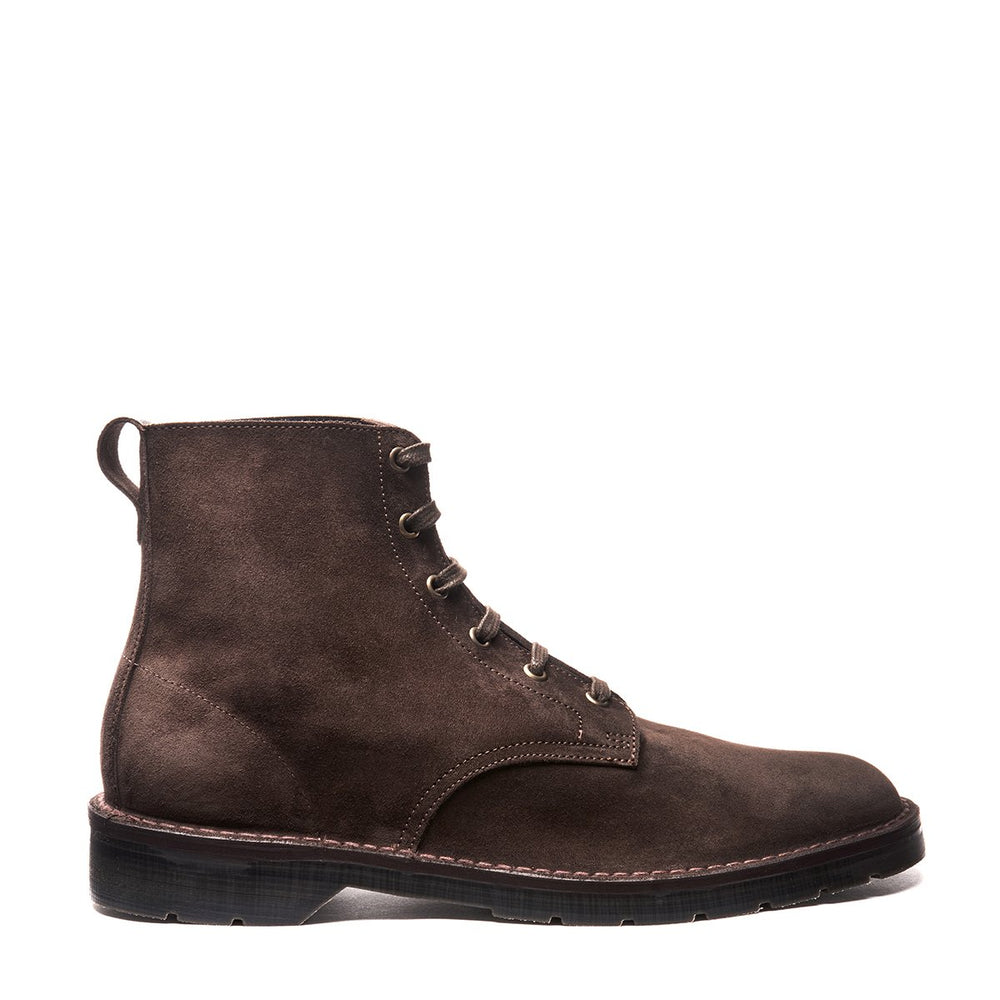 Brown 6 Eye Suede Derby Boot