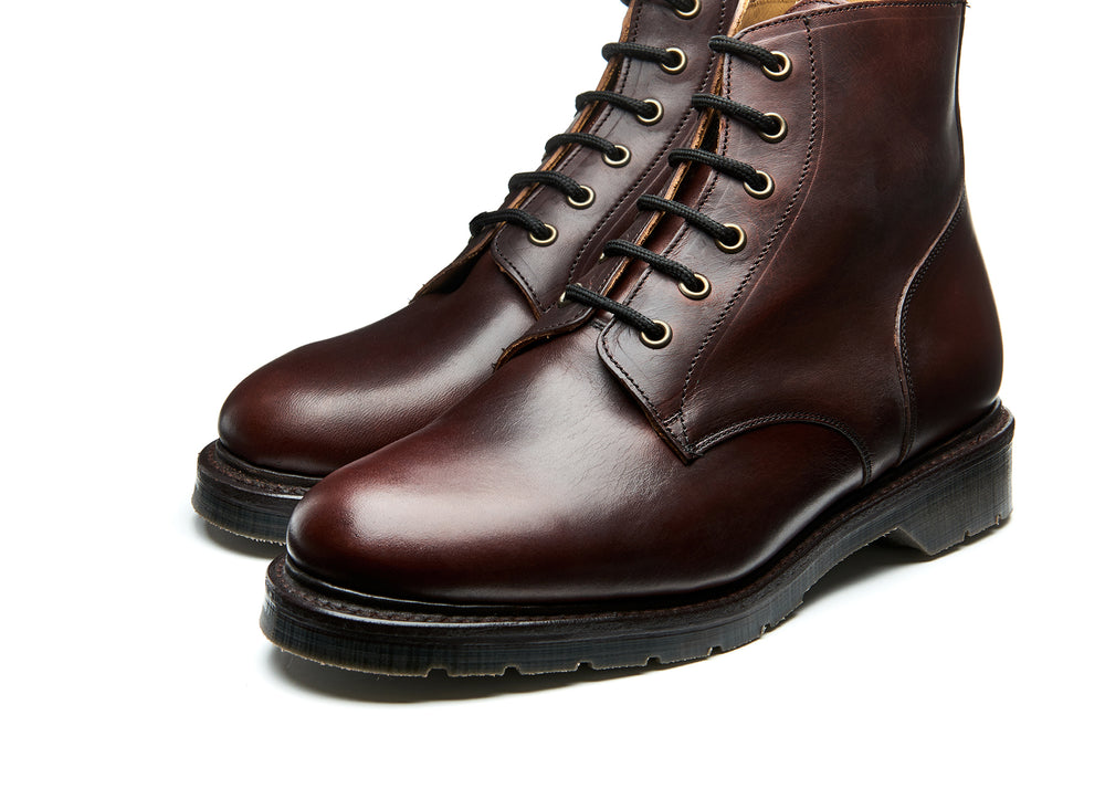 Brown Horween 6 Eye Derby Boot