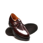 Burgundy Rub-Off Single Buckle Monk Shoe