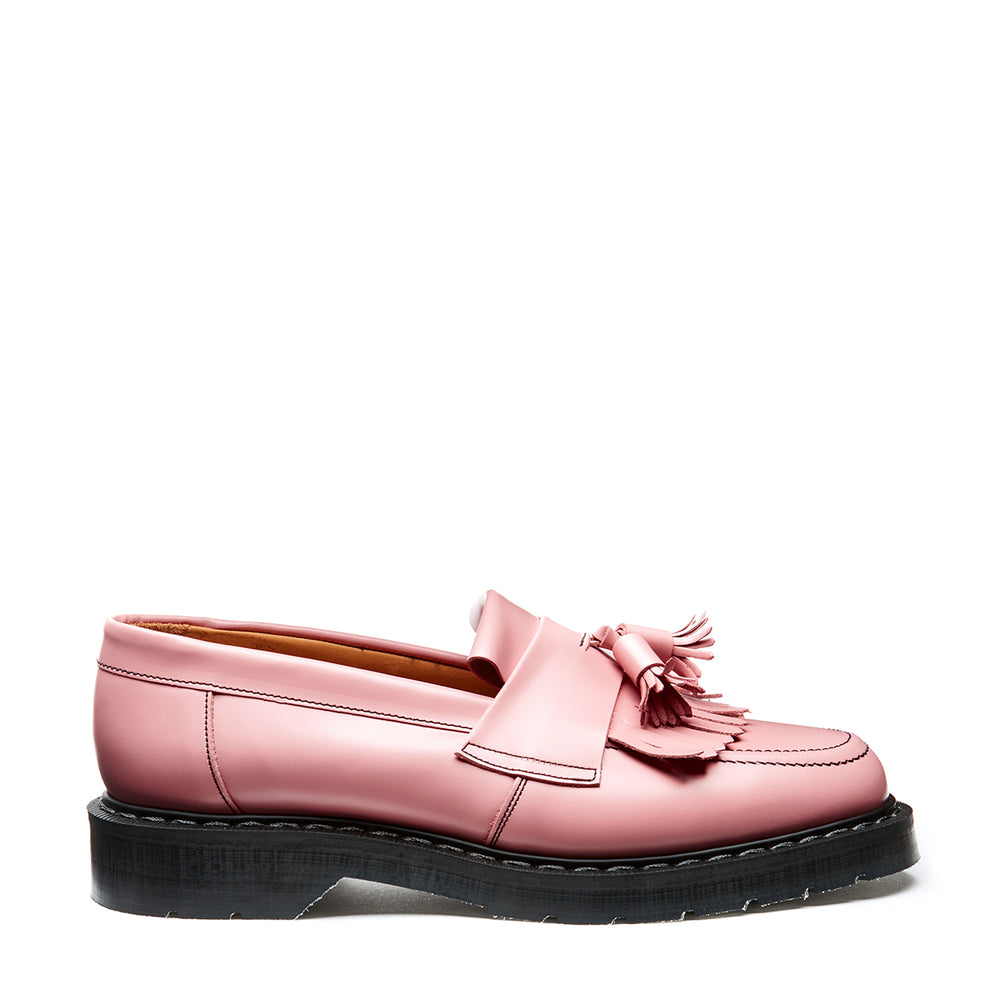 Blush Pink Hi-Shine Tassel Loafer