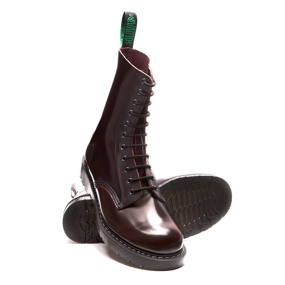 Burgundy Rub-Off 11 Eye Derby Boot