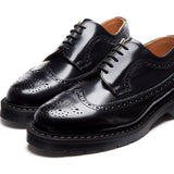 Black Hi-Shine American Brogue Shoe