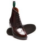 Burgundy Rub-Off 6 Eye Brogue Boot