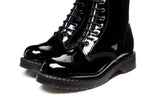 Black Patent 8 Eye Derby Boot
