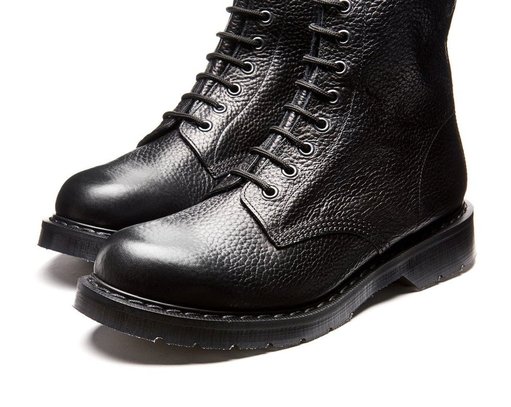 Black Grain 8 Eye Derby Boot