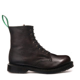 Dark Brown Grain 8 Eye Derby Boot