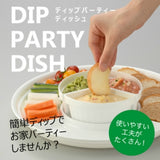DIP PARTY DISH WHITE
