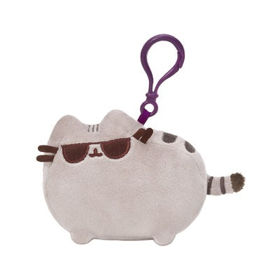 PUSHEEN SUNGLASSES BACKPACK CLIP 4.5