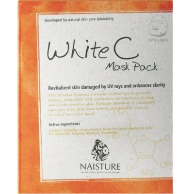 NAISTURE PREMIUM FACIAL FACE MASK SHEET PACK : WHITE C (1BOX=5PC)