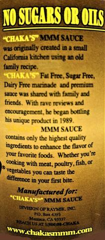 12 PACK - CHAKA'S MMM SAUCE ORIGINAL ALL NATURAL MARINADE 34oz. BEST VALUE