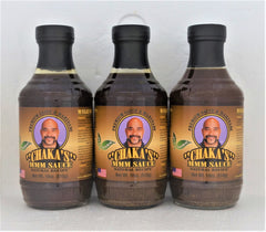 3 PACK - CHAKA'S MMM SAUCE ORIGINAL ALL NATURAL MARINADE 18oz GLASS BOTTLES