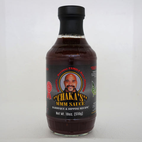 1 PACK - CHAKA'S ALL NATURAL BBQ, DIPPING & GRILLING SAUCE. GLASS BOTTLE. AMAZING FLAVOR - WOW