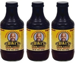 CHAKA'S MARINADE All Natural Sauce (3) Zesty 18oz