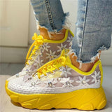 Mokoshoes Wedding Mesh Diamante Trim Lace-Up Sneakers