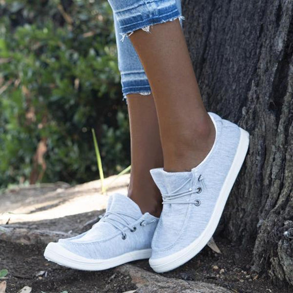 Mokoshoes Mocassin Style Elastic Band Sneakers