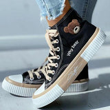 Mokoshoes Cute High Top Canvas Sneakers