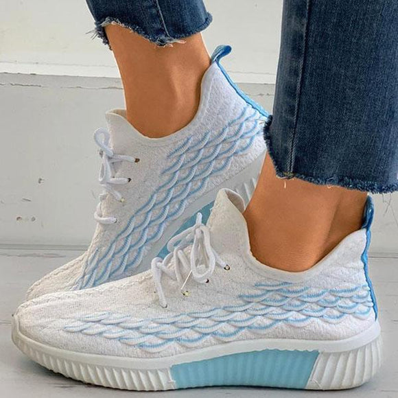 Mokoshoes Fashion Mesh Breathable Platform Sneakers