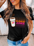 Mokoshoes Dunkie Junkie Coffee O Neck T-Shirt