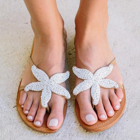 Mikastylish  Women Starfish Beach Flat Sandals