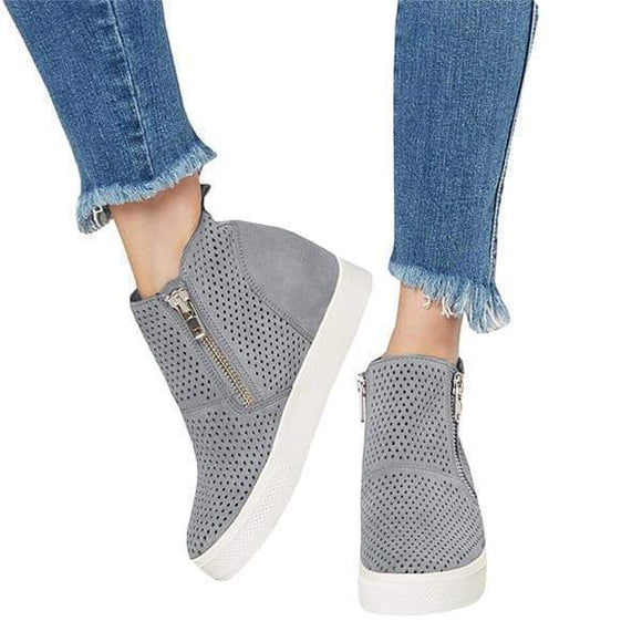 Mokoshoes Platform Side Zipper Sneakers