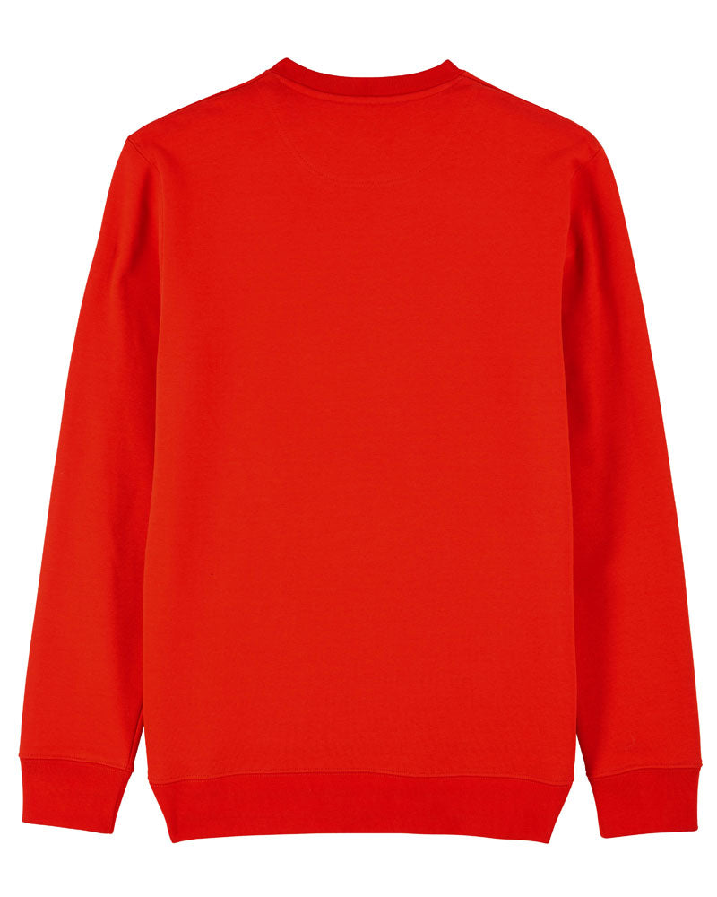 Brainstorming - Bright Red Sweatshirt