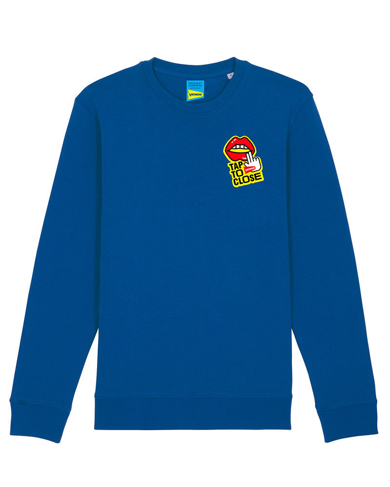 Tap to Close - Majorelle Blue Sweatshirt