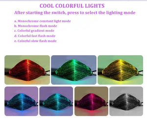 LED Light-Up Glow Mask -With 7 Color Glow Mode!
