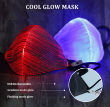 Load image into Gallery viewer, LED Light-Up Glow Mask -With 7 Color Glow Mode!