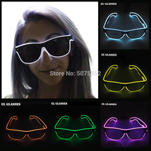 Load image into Gallery viewer, Glowing Bright LED Glasses Neon Flashing Eyewear